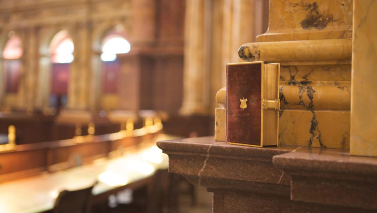 La biblia de Lincoln usada en el juramento presidencial de Donald Trump.