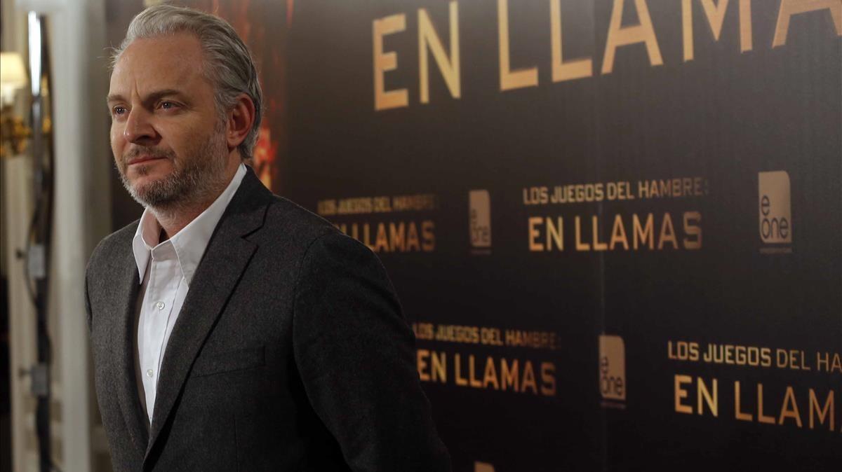 El director Francis Lawrence, en la presentación en Madrid de la película Los Juegos del hambre.En llamas.