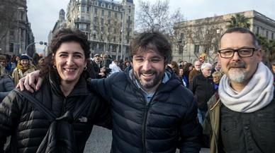 Manifestacion Volem acollir, 'Casa meva, Casa vostra', en Barcelona por los refugiados.