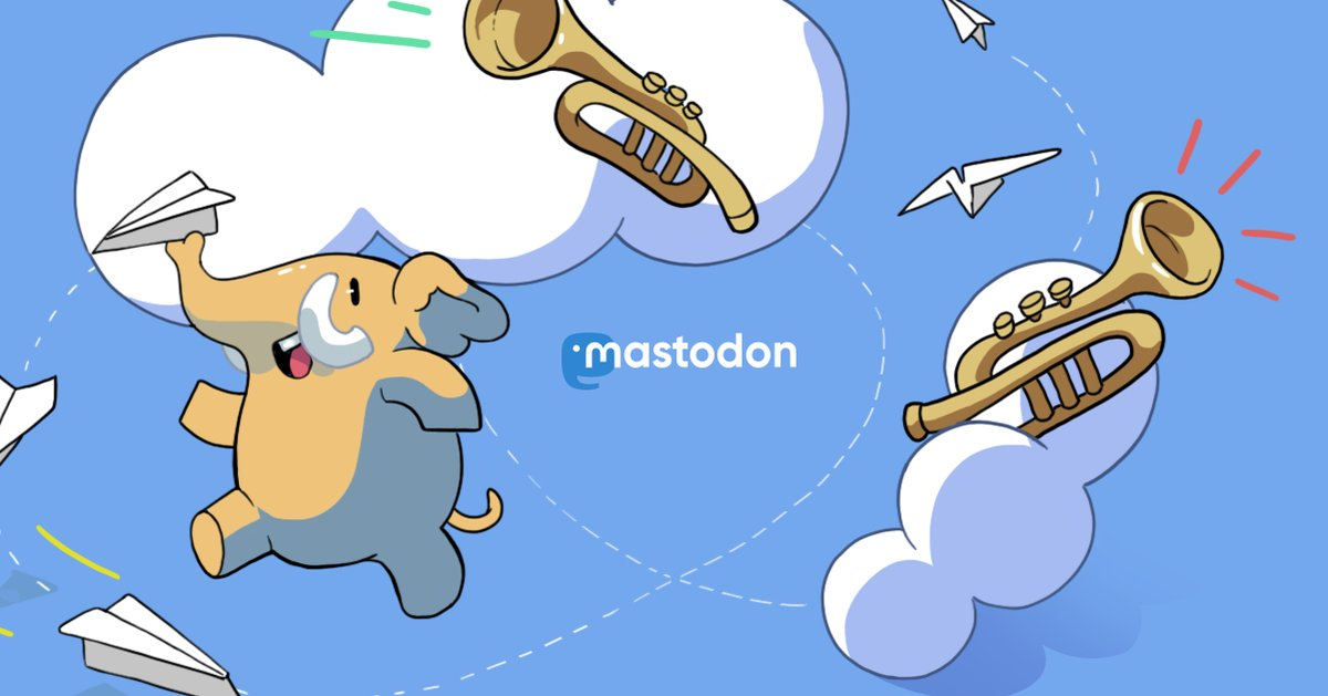 La imagen de Mastodon, competidor de Twitter.