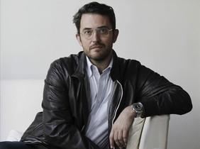 El periodista Màxim Huerta, poco después de recibir el Premio Primavera de Novela 2014.