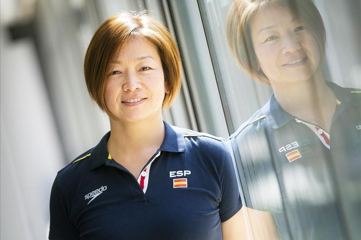 Mayu Fujiki posa en las instalaciones del CAR de Sant Cugat
