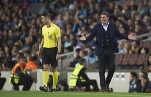 Míchel, técnico del Málaga.
