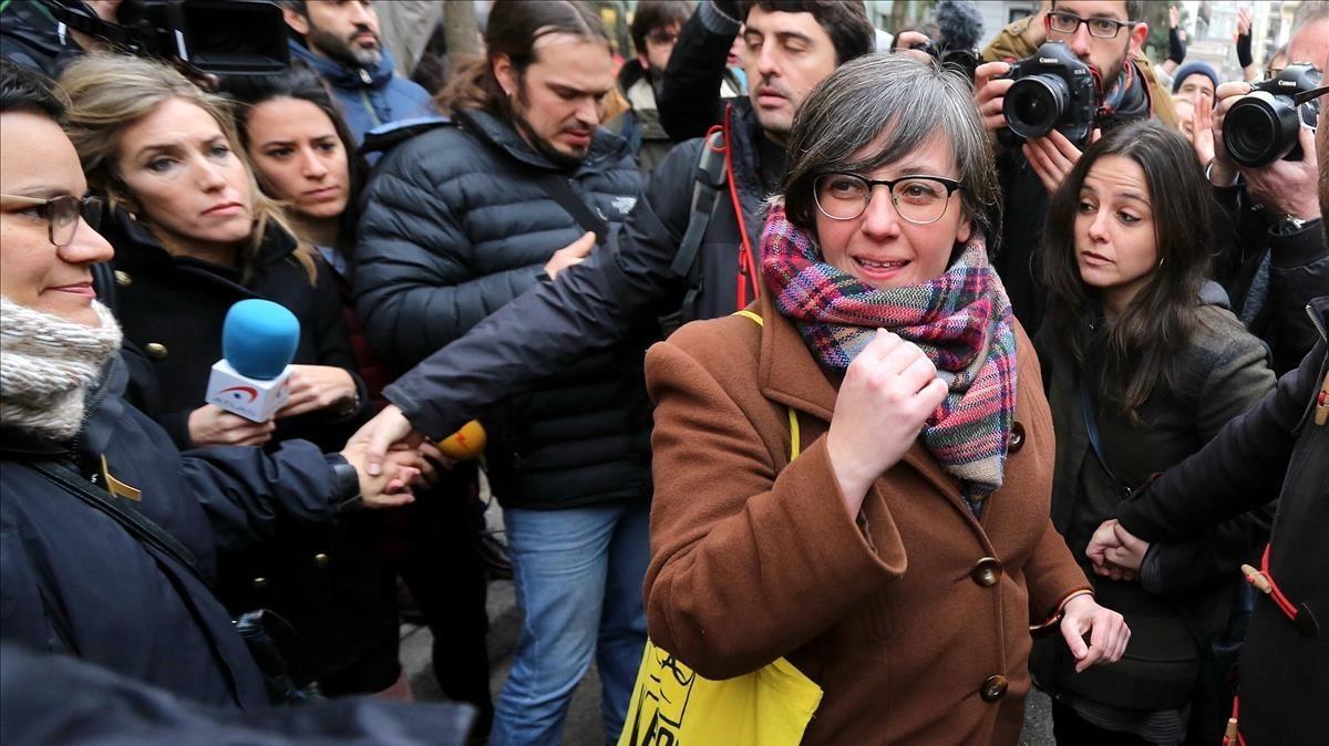 Mireia Boya, exdiputada de la CUP, a su llegada al Tribunal Supremo.