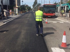 El Ayuntamiento de Barcelona destinará 40 millones de euros para tareas de mantenimiento en el total de 12 millones de metros cuadrados de calzada