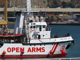 El Open Arms, a su llegada al puerto de Barcelona.