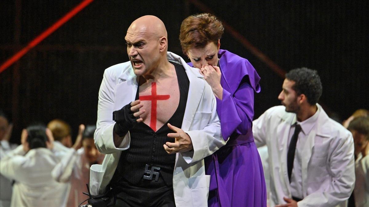 Un momento del montaje de la ópera de Benet Casablancas Lenigma di Lea.