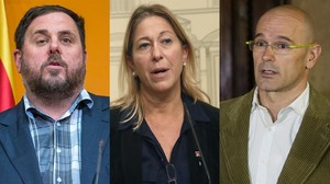 Oriol Junqueras, Neus Munté y Raül Romeva.