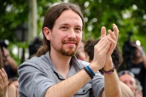 El secretario generalde Podemos, Pablo Iglesias