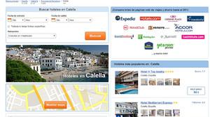 Un turoperador que ofrece alojamiento en Calella de la Costa mostrando imágenes de Calella de Palafrugell