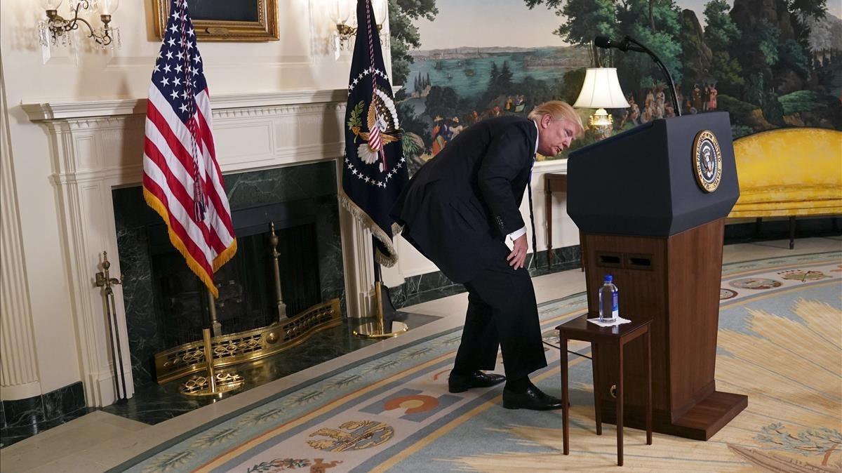 Trump en un acto en la Casa Blanca el pasado mes de noviembre.