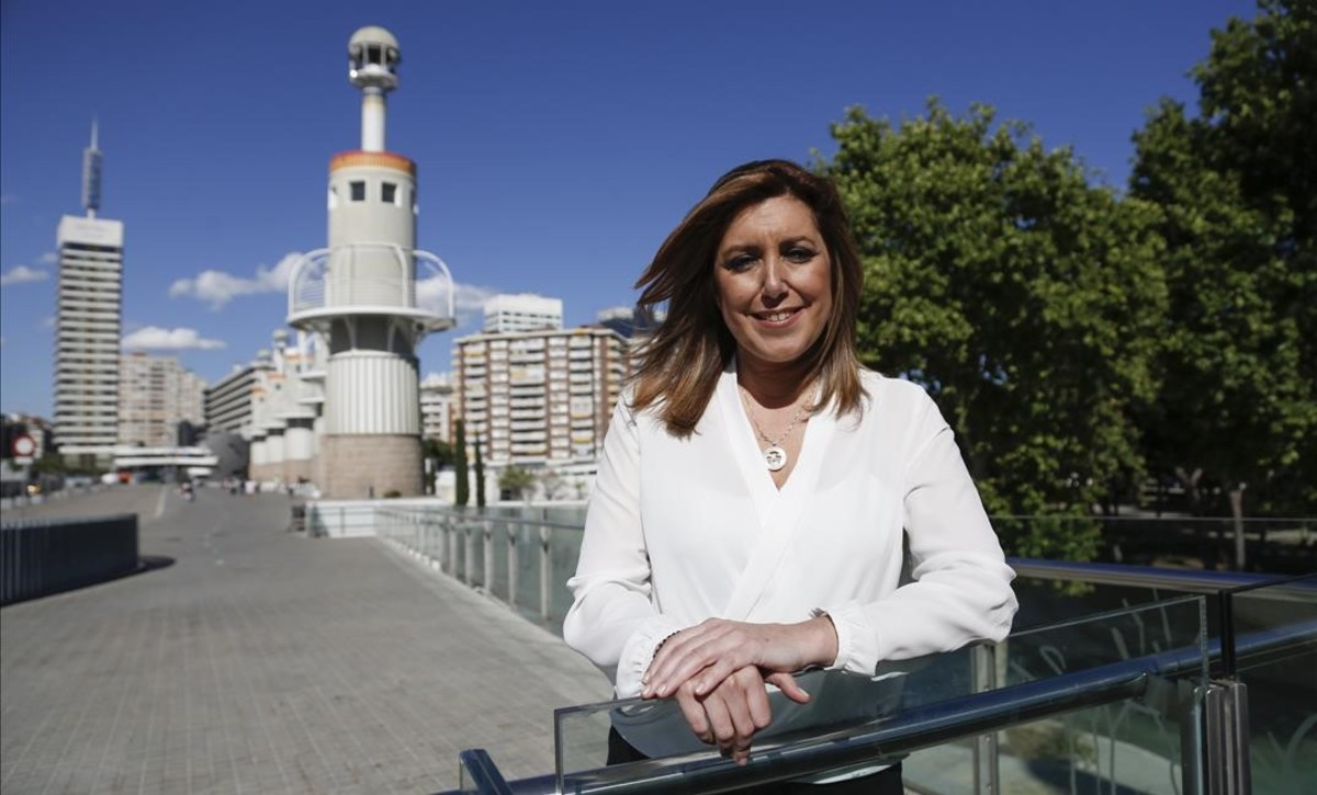 La presidenta andaluza, Susana Díaz, el pasado mayo, en Barcelona.