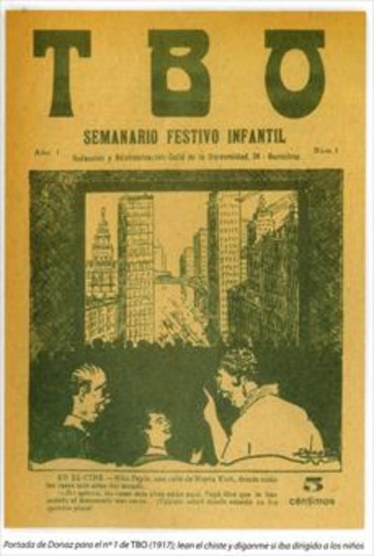 Primer número del semanario 'festivo infantil' 'TBO', de marzo de1917.