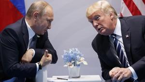 Trump y Putin en el cumbre del G-20 en Hamburgo.