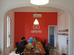 Sede de Airbnb en Barcelona.