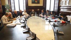 Reunión de la Mesa del Parlament, el pasado 8 de octubre.