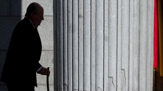 El reyemérito, Juan Carlos I, homenajeado en el 40º Aniversario de la Constitución.