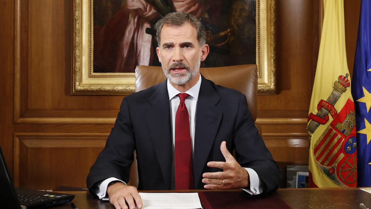 El Rey ha subrayado la extrema gravedad de la crisis catalana en su primer discurso institucional en tres años de reinado.