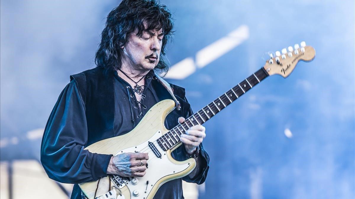 Ritchie Blackmore, en el concierto de Rainbow en Fuengirola
