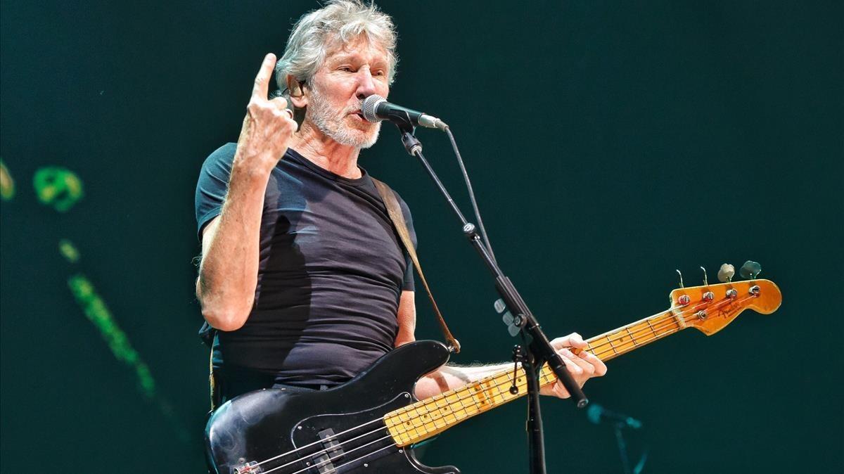 Roger Waters, durante un concierto en Barcelona.
