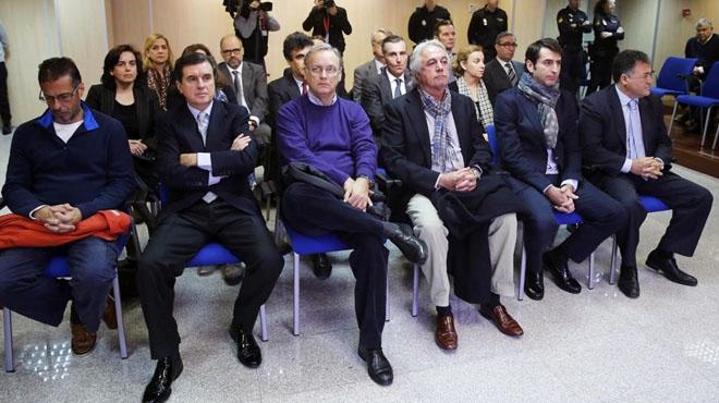 Siete de los 17 acusados en el caso Nóos condenados a penas de cárcel.