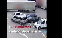 Vídeo | Així desvalisaven cotxes dues lladres en àrees de servei de Barcelona