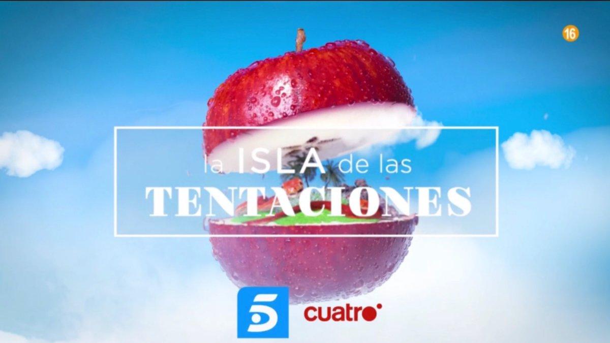 Spot de 'La isla de las tentaciones' con los logos de Cuatro y Telecinco.