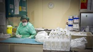 Farmacia del Institut Català dOncologia (ICO), donde se dispensan los fármacos contra el cáncer.