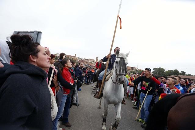 Uno de los participants a caballo de la edición de este año del Toro de la Vega.
