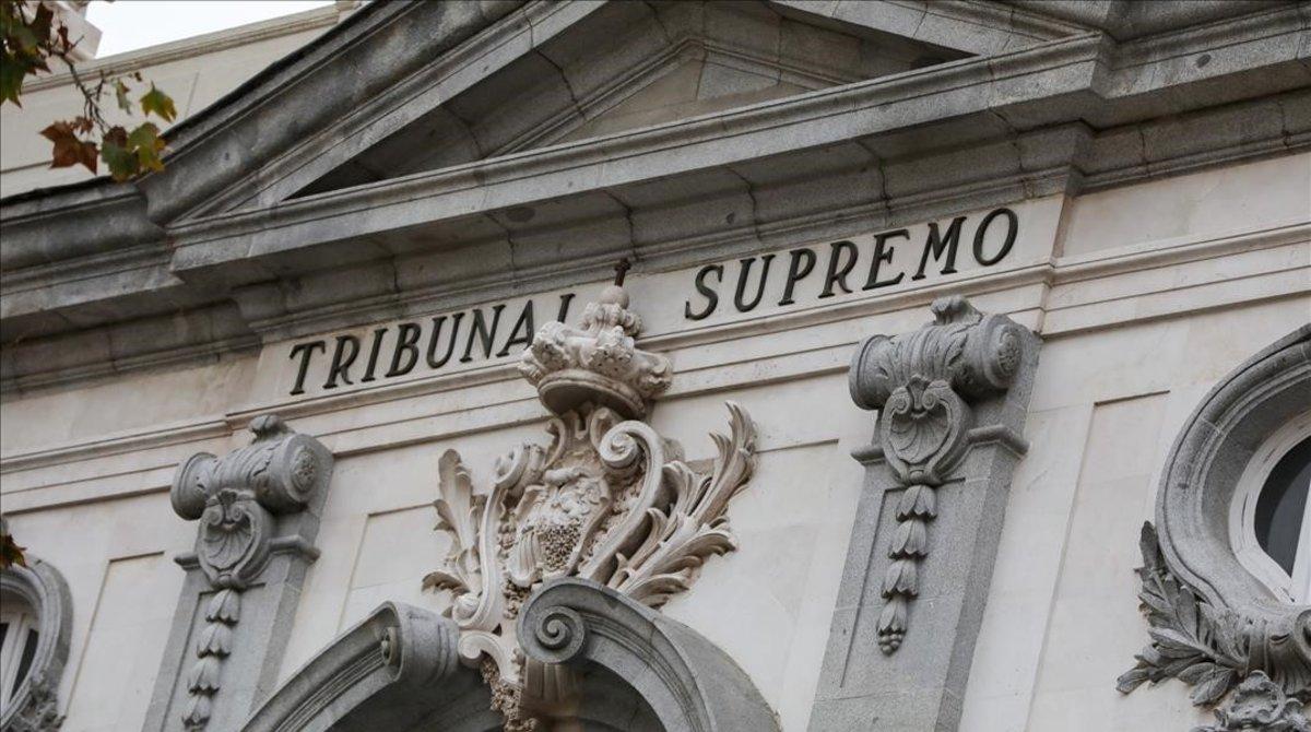La fachada del Tribunal Supremo.
