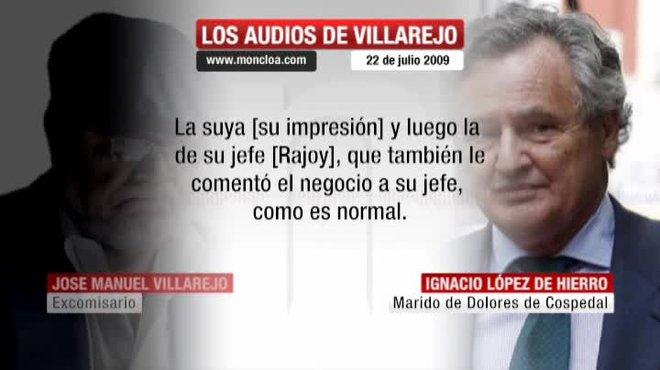 El marido de Cospedal le aseguró a Villarejo que la entonces secretaria general ya había informado a su jefe.