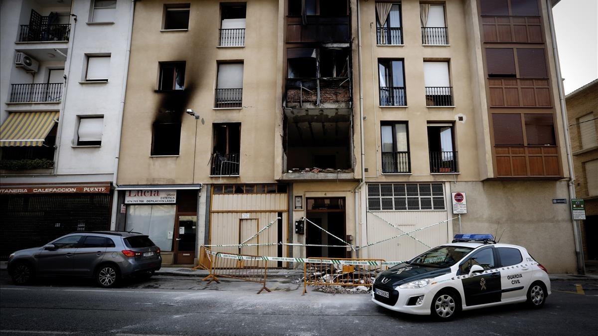 Un muerto y 13 heridos, dos de ellos graves, en una explosión de gas en Navarra