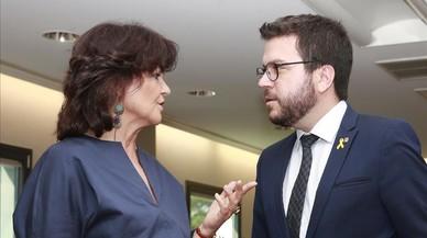 El Govern espanyol i la Generalitat reafirmen la via del diàleg oberta per Sánchez i Torra