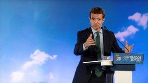 Pablo Casado, en el acto de Toledo para presentar el programa marco de las municipales y autonómicas.