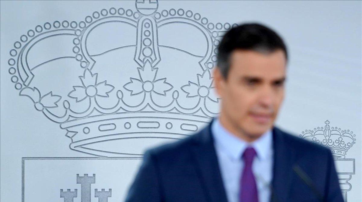 Pedro Sánchez, en una comparecencia ante la prensa el pasado 4 de agosto.