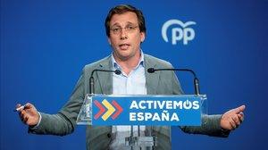 El portavoz nacional del PP, Jose Luis Martínez-Almeida