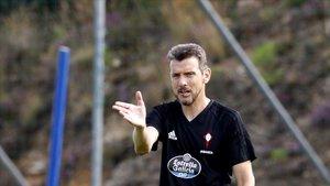 Unzué, en su etapa como entrenador del Celta.
