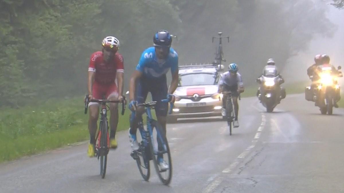 Alejandro Valverde y Dani Navarro, en acción.