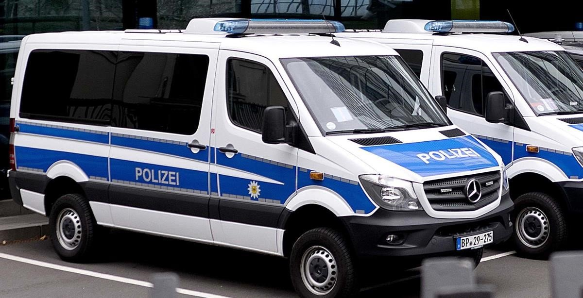 Vehículos de la policía alemana.