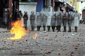 Protestas en las calles de Venezuela.