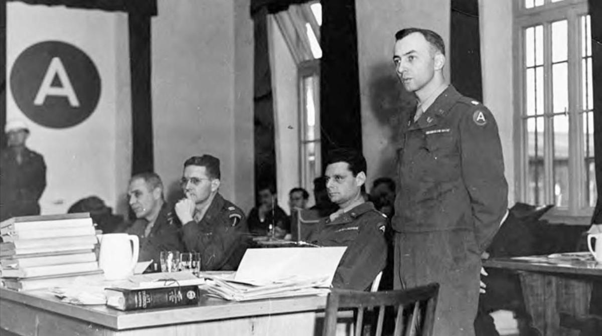 William Denson, fiscal estadounidense en los juicios de Dachau.