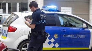 Agente de la Guardia Urbana de Badalona.
