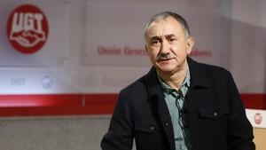 El líder la UGT, José María Álvarez, explica que las negociaciones entre sindicatos y patronales están muy avanzadas.