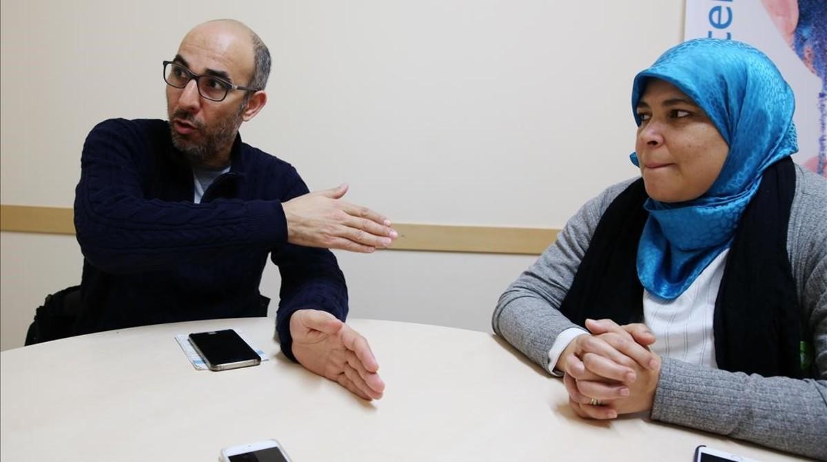 Debate entre Hassoun yAoulad, este jueves.