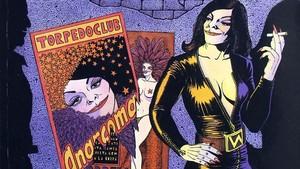 Anarcoma, ladetective transexual creada por Nazario a finales de la década de 1970.