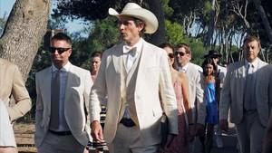 Kimbal Musk, a su llegada al recinto arqueológido de Empúries, para su boda con Christiana Wyly.