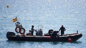 Artificieros de la Armada detonaron el 26 de agosto la bomba de la guerra civil hallada la víspera en una playa de la Barceloneta.