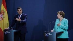 Merkel i Sánchez apressen a pactar el fons «al més aviat possible»