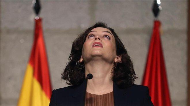 Ayuso demanarà a Sánchez ajuda de l'Exèrcit per frenar el coronavirus a Madrid