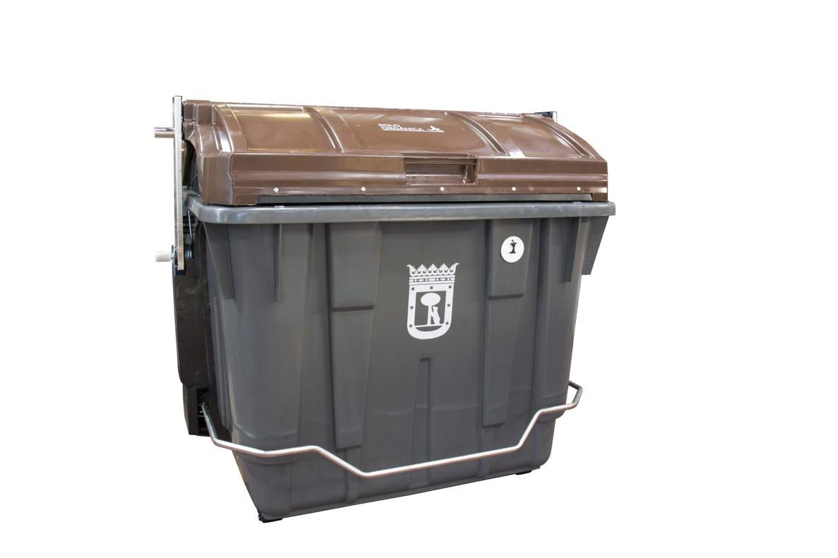 Llegan a madrid los contenedores de tapa marr n para org nico - Cubo de reciclaje ...